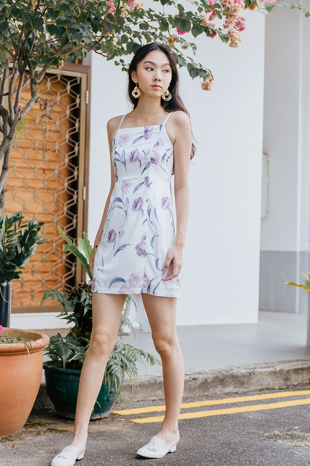 Perla Dress White Floral