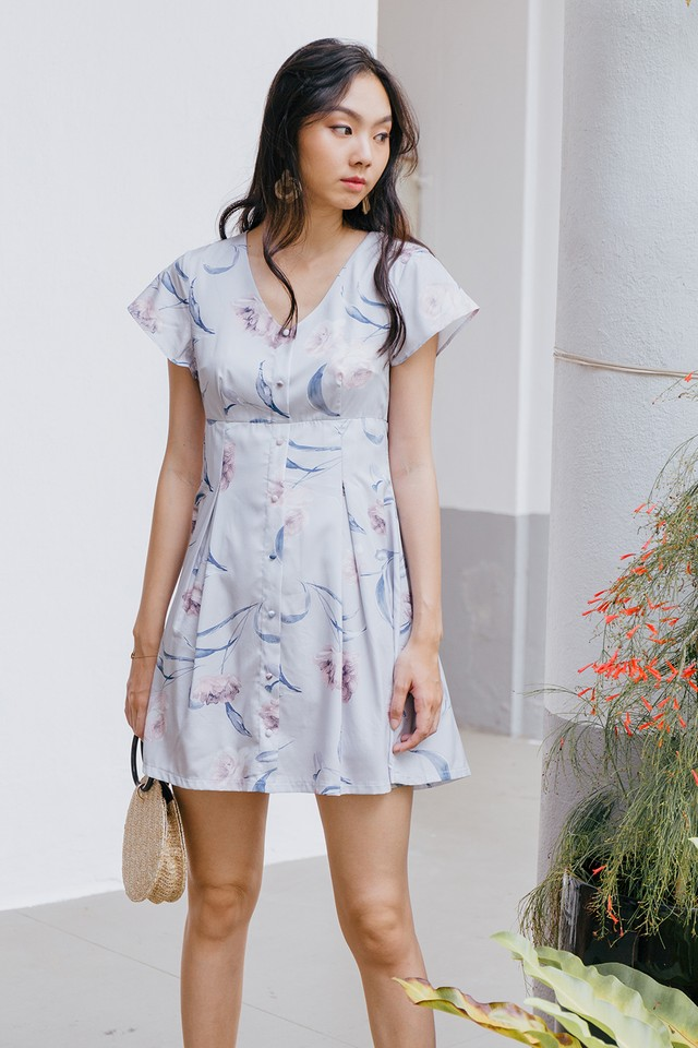 Rubita Dress Grey Floral