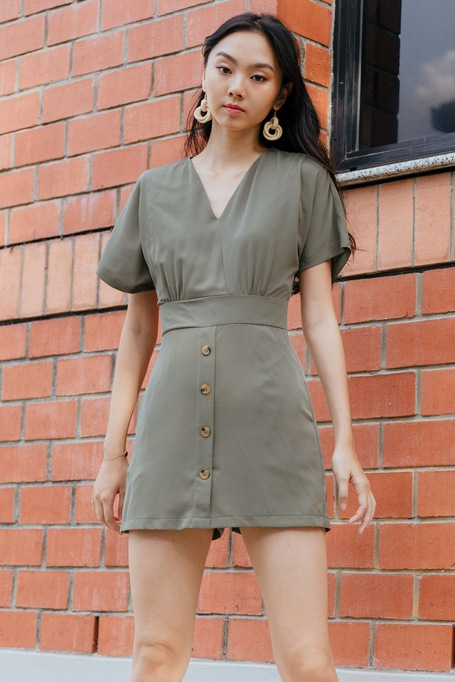 Lilith Playsuit Army