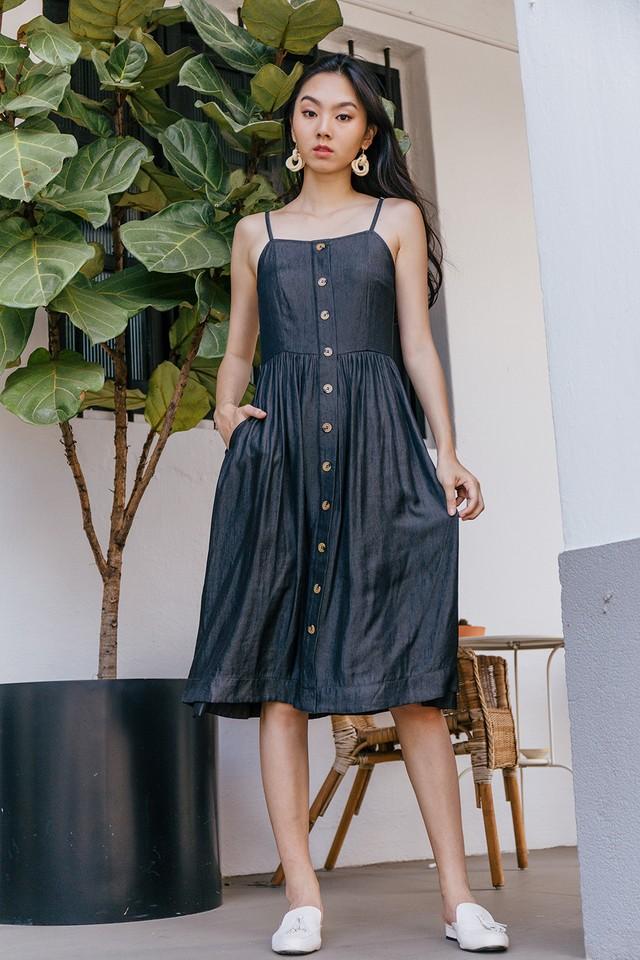 Adelynn Dress Dark Wash