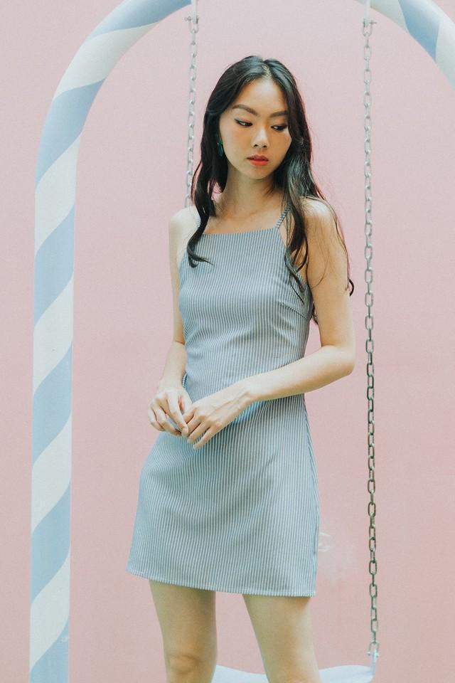Stormi Dress Blue Stripes