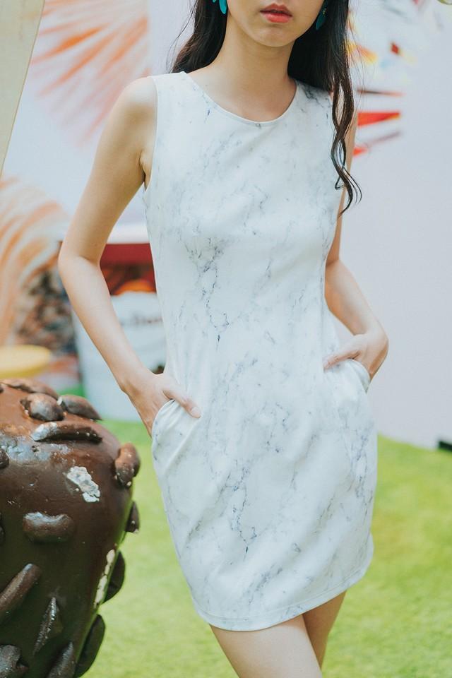 Milan Dress Marble