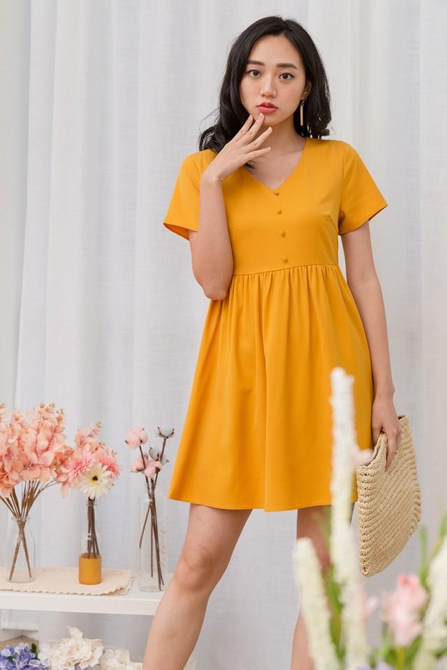 Cathal Dress Mustard