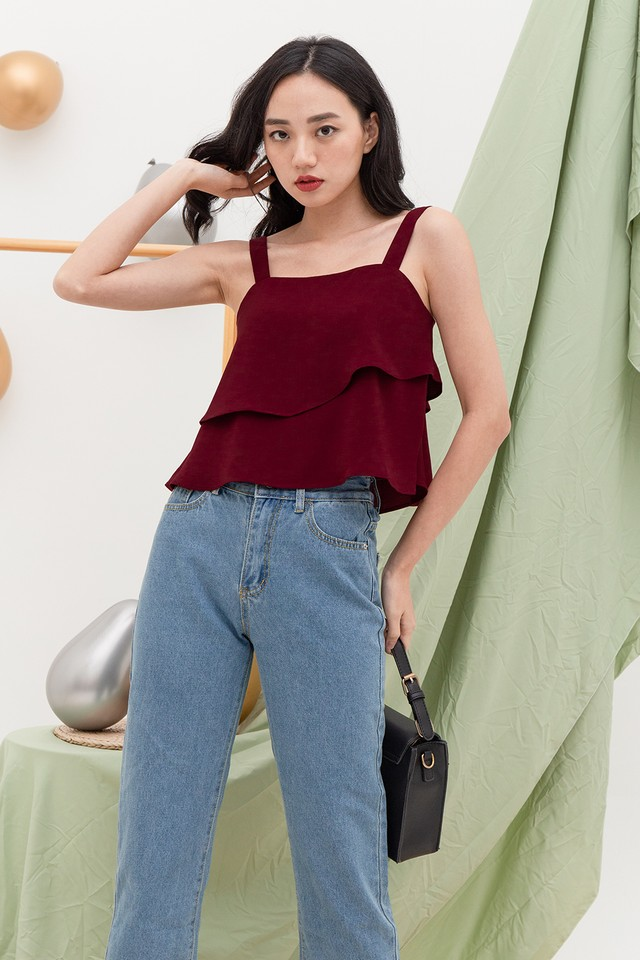 Liana Top Burgundy