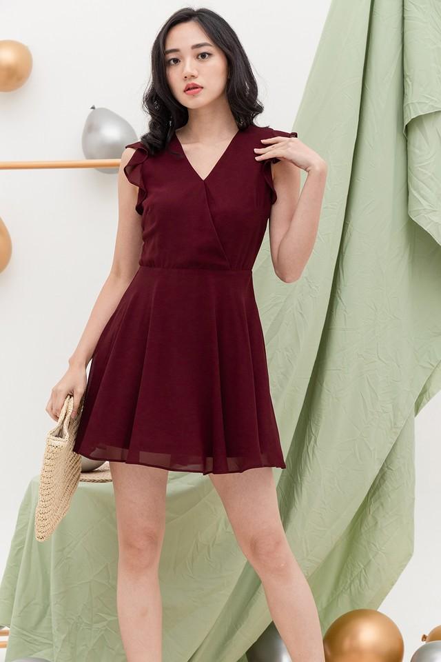Camita Dress Burgundy