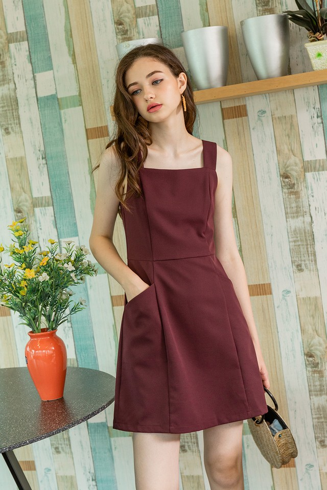 Karri Dress Burgundy