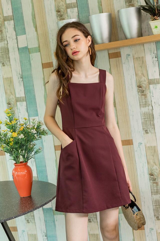 Karri Dress Burgundy