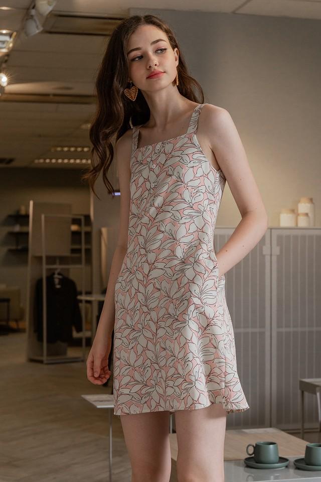 Stefania Dress Pink Floral