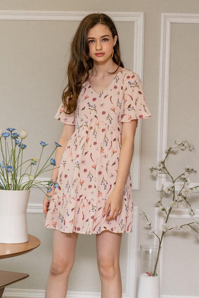 Claudette Dress Pink Floral