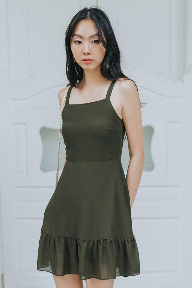 Cambria Dress Olive