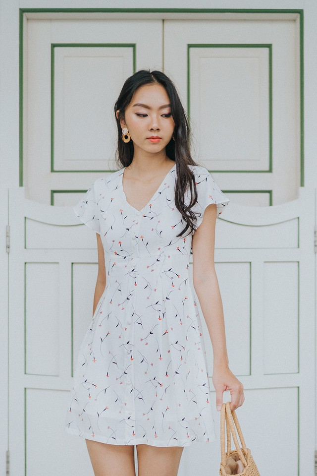 Kirie Dress White Floral