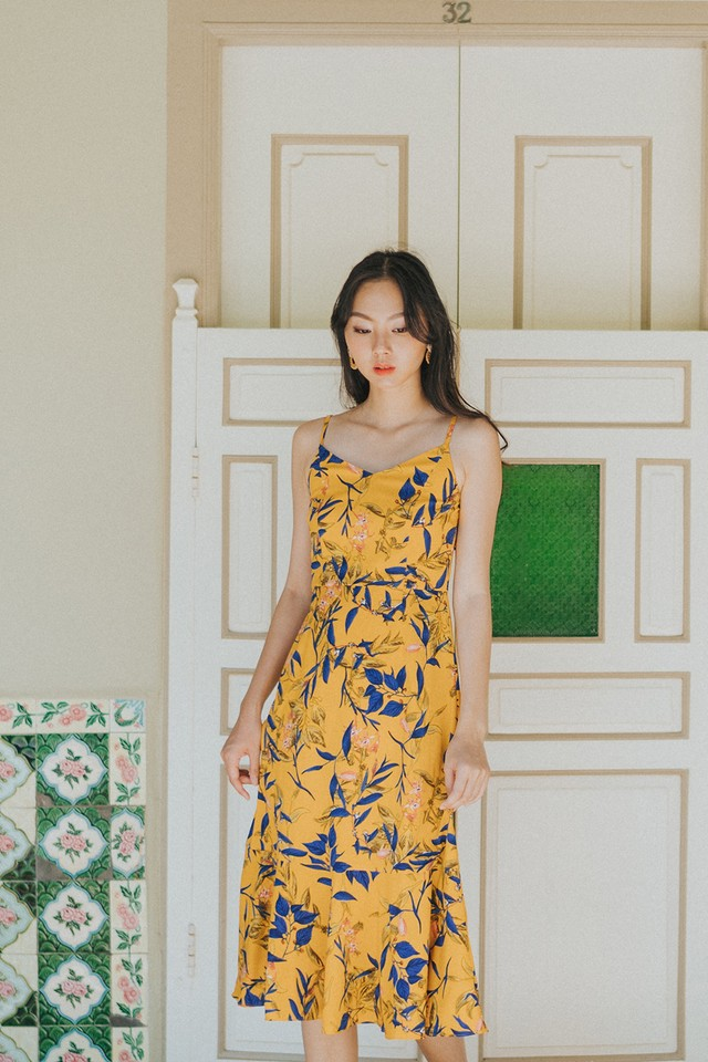 Haddey Dress Yellow Floral