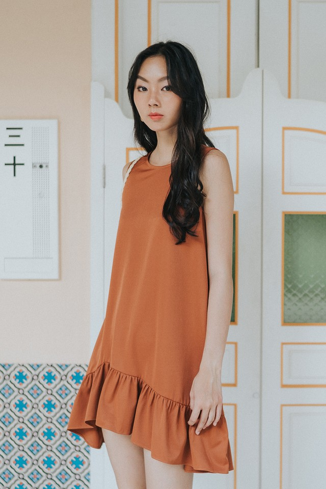 Geena Dress Burnt Orange