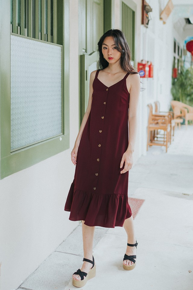 Marsha Dress Maroon