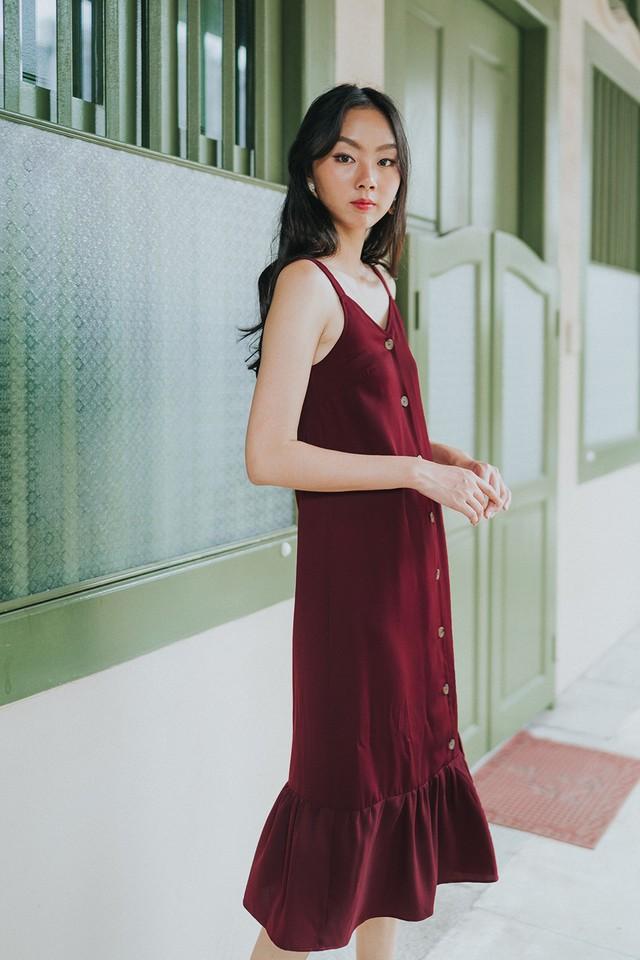 Marsha Dress Maroon