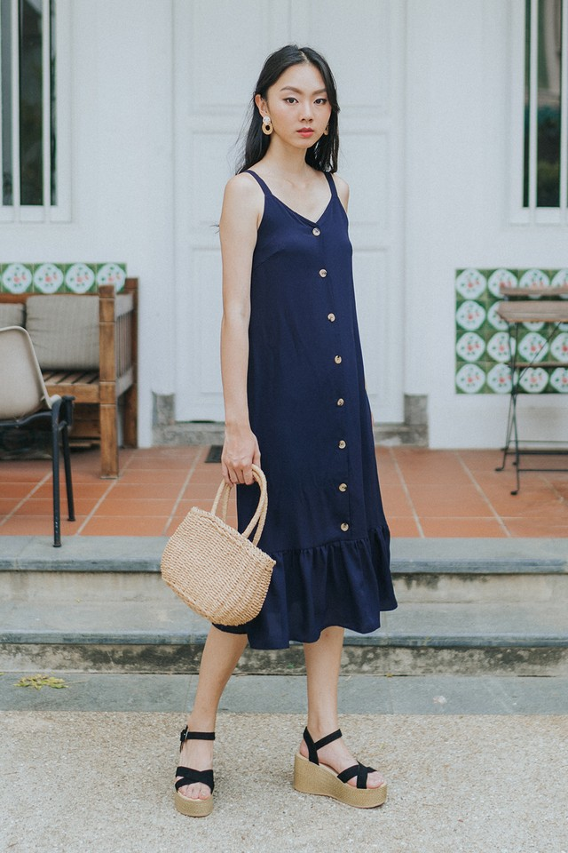 Marsha Dress Navy