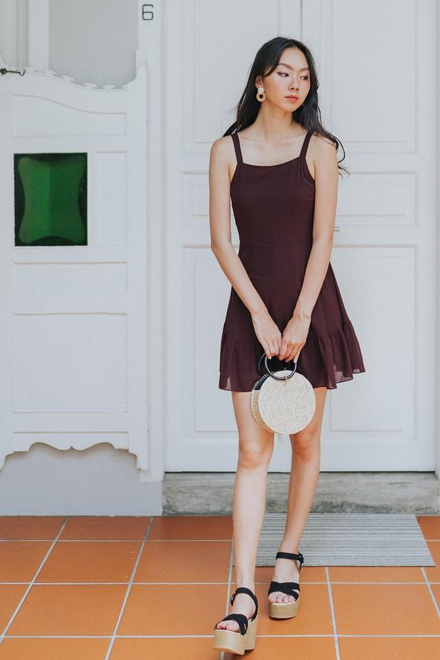 Cambria Dress Burgundy