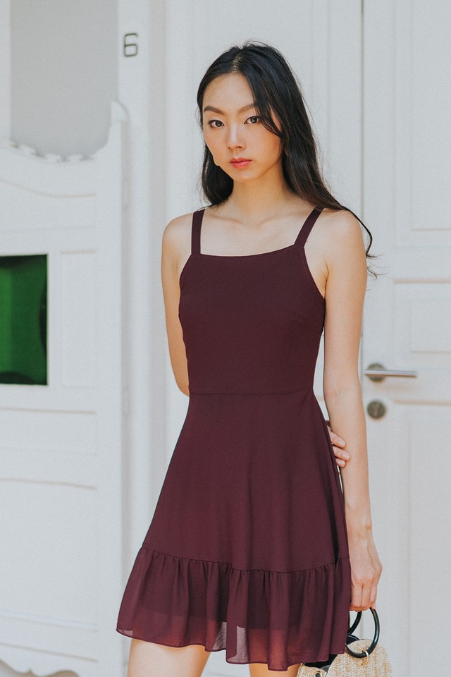 Cambria Dress Burgundy