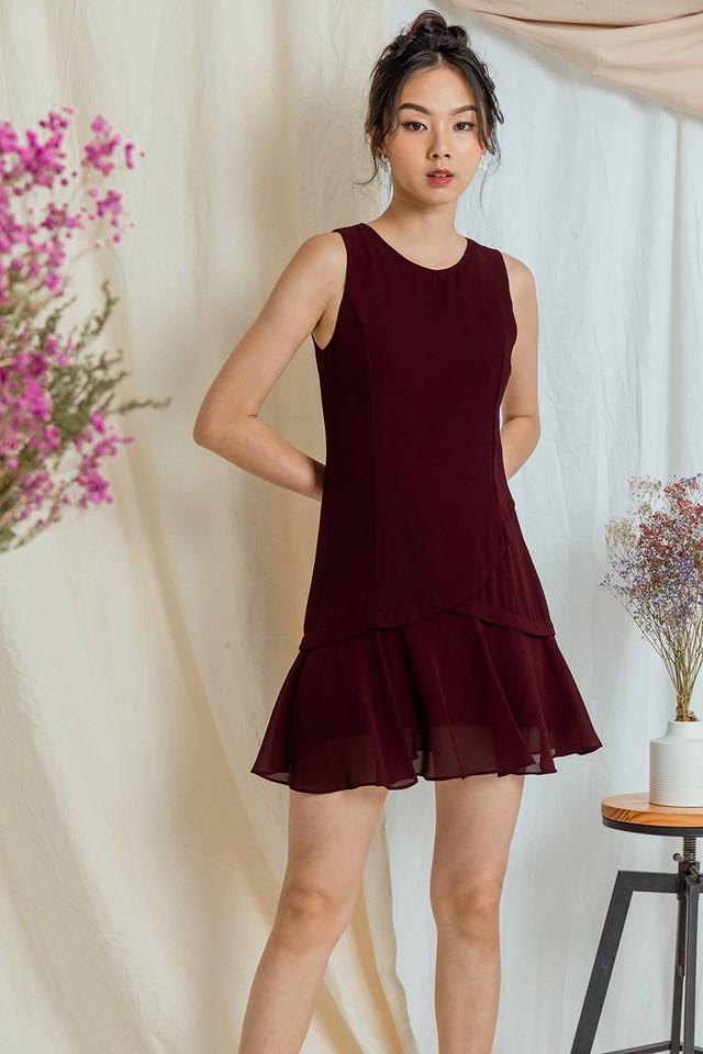 Tadita Dress Maroon
