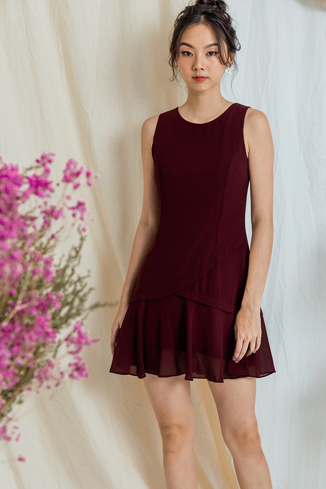 Tadita Dress Maroon