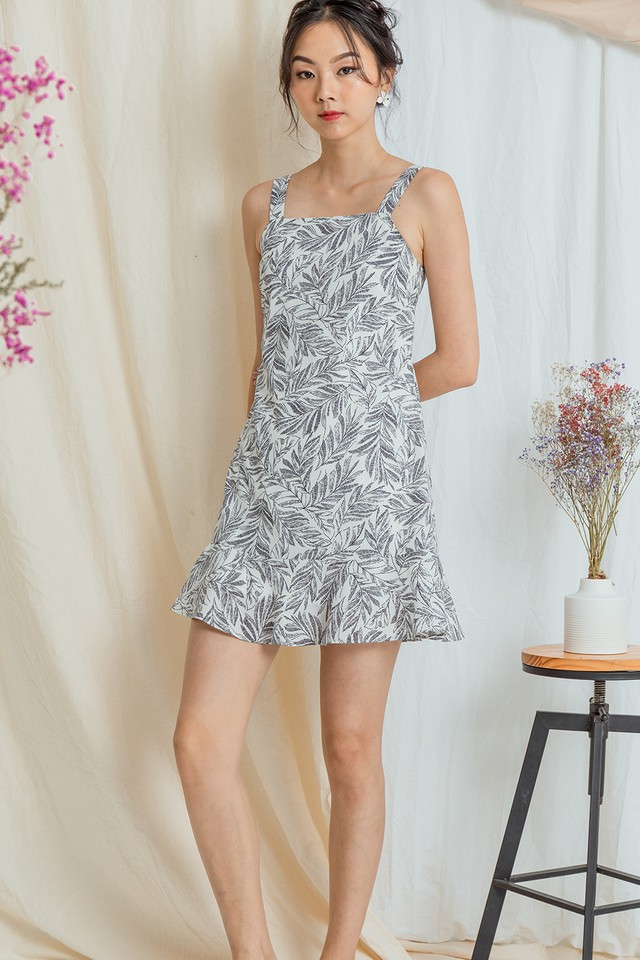 Cimarron Dress Mono Leaf