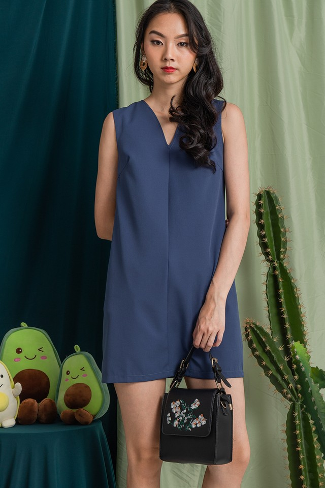 Halona Dress Ash Blue