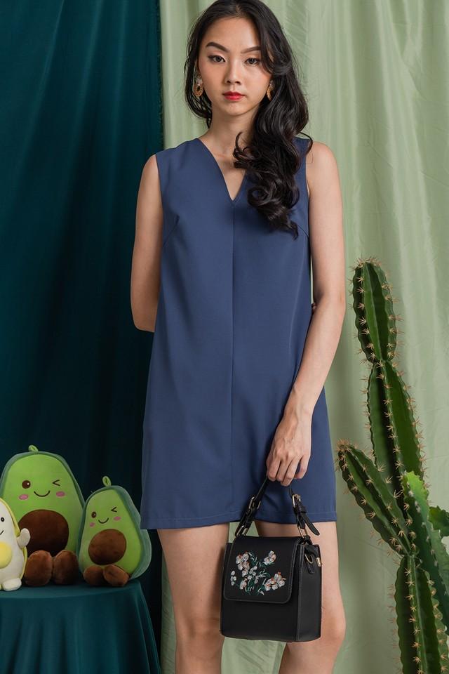 Halona Dress Ash Blue