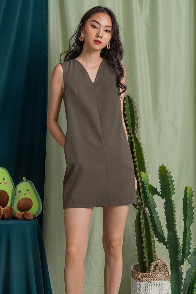 Halona Dress Olive