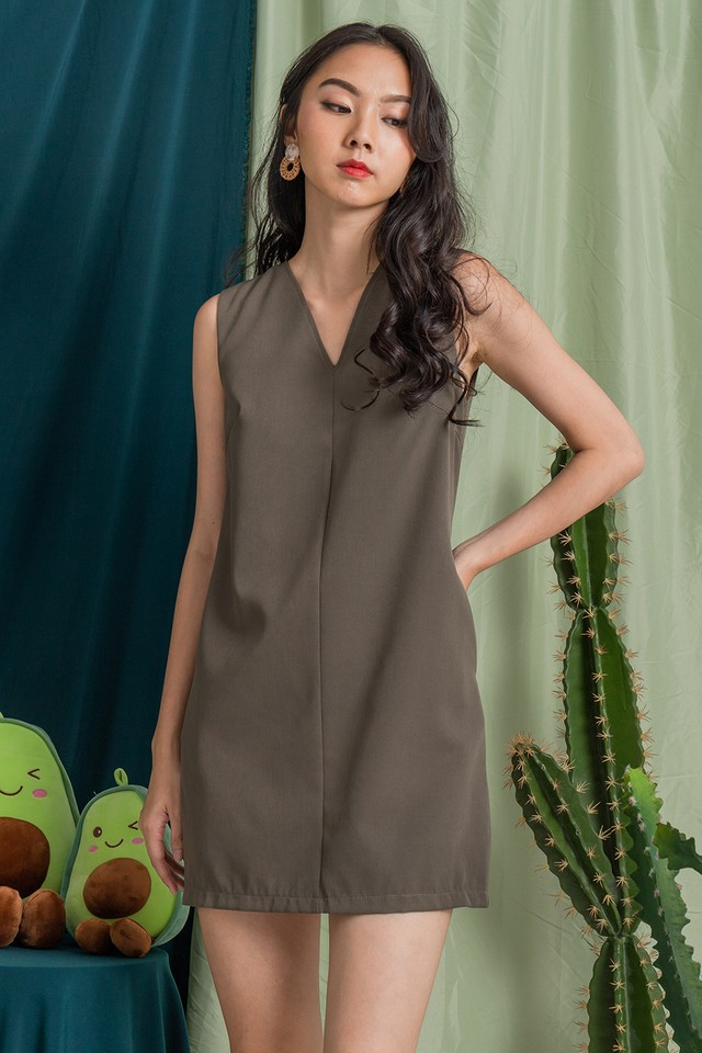 Halona Dress Olive