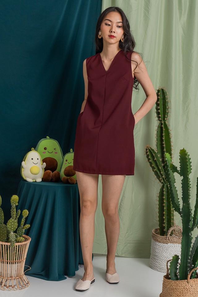 Halona Dress Maroon