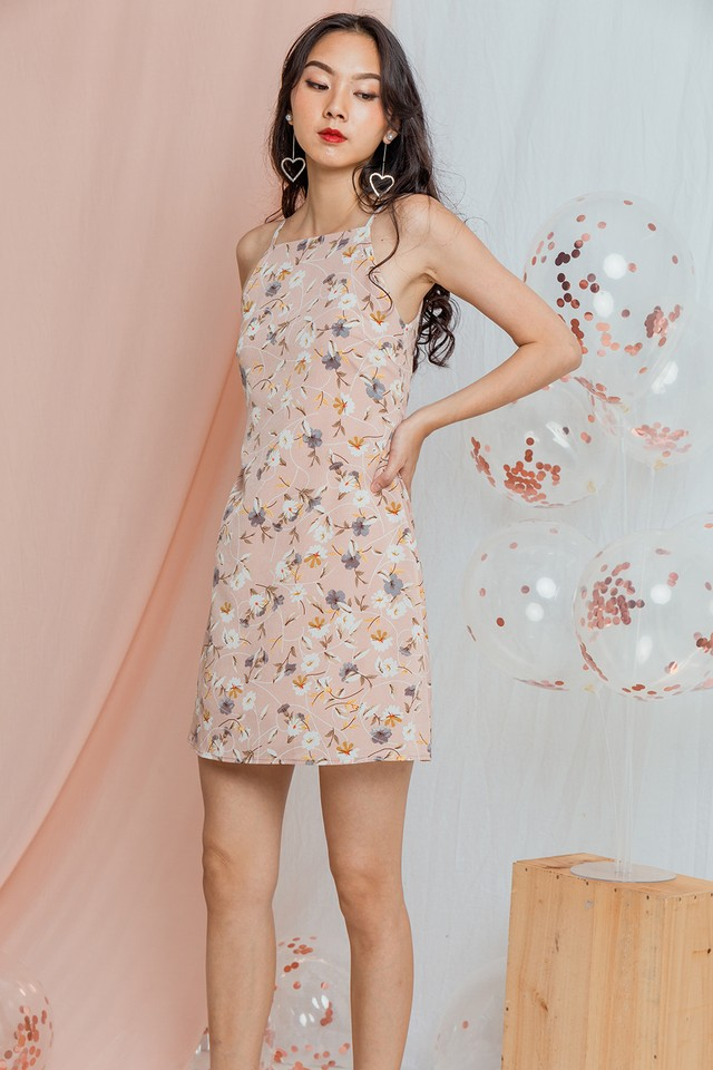 Amia Dress Pink Floral