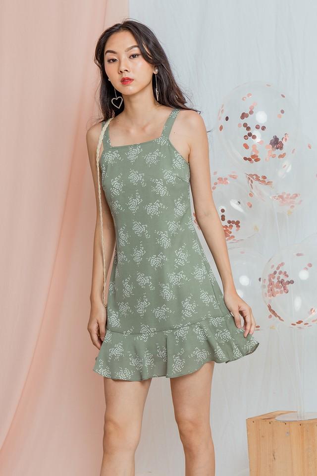 Irinna Dress Sage Floral