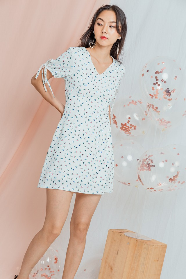 Julissa Dress White Hearts