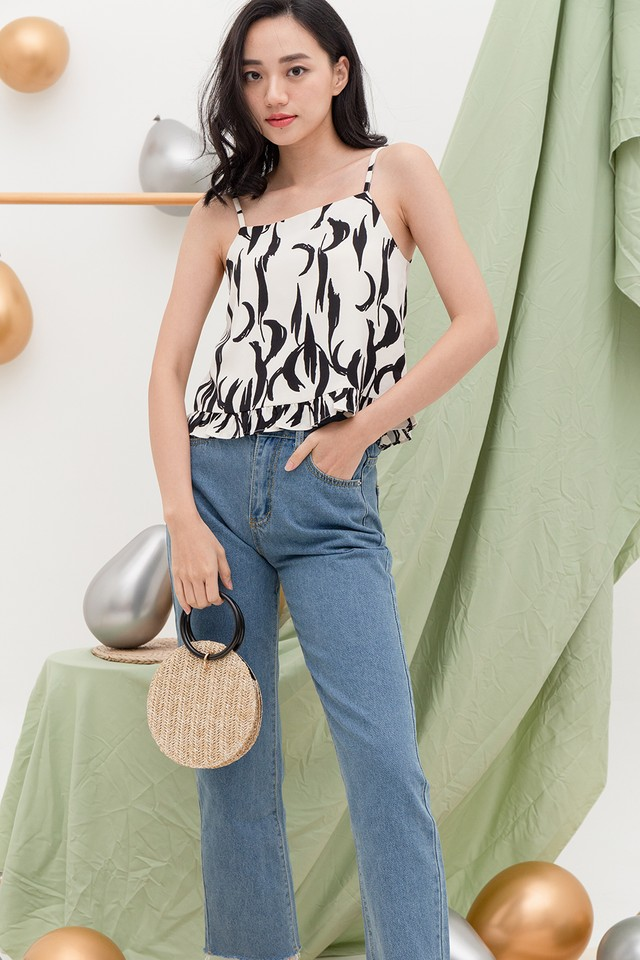 Orisa Top White Abstract