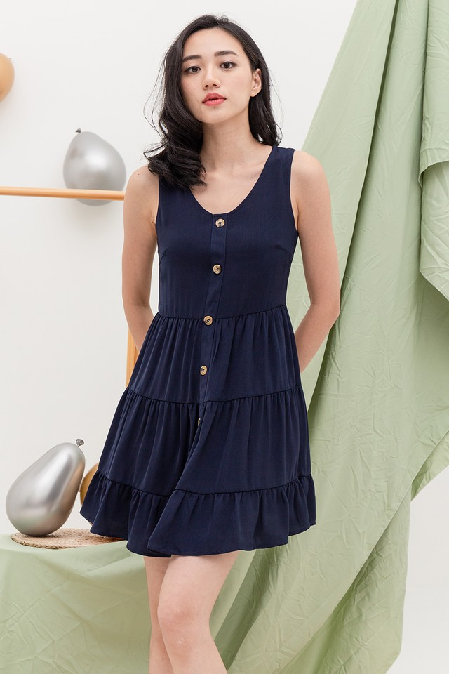 Demeter Dress Navy