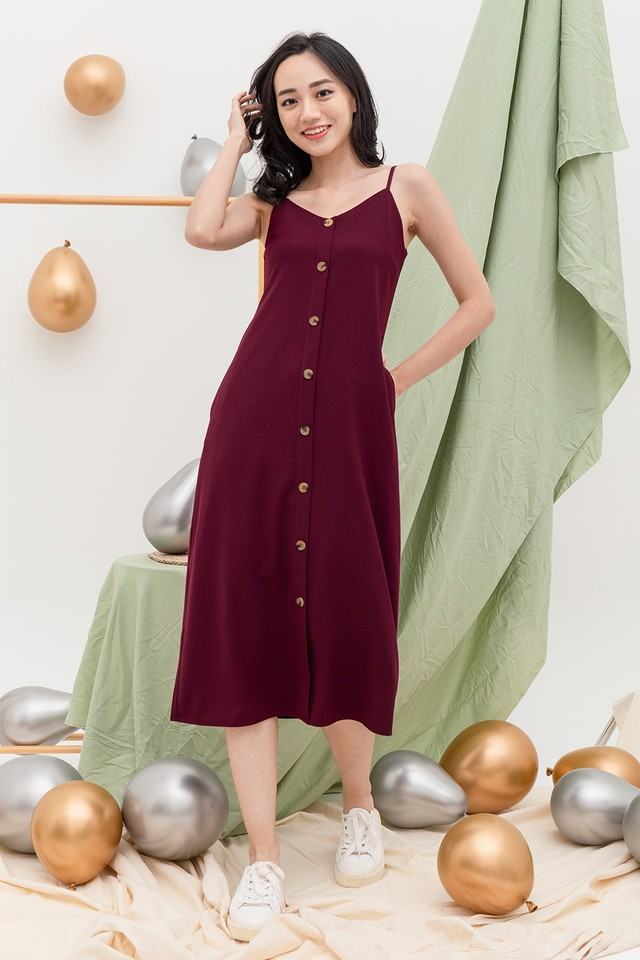 Allya Dress Maroon