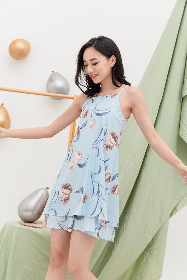 Sable Dress Blue Floral