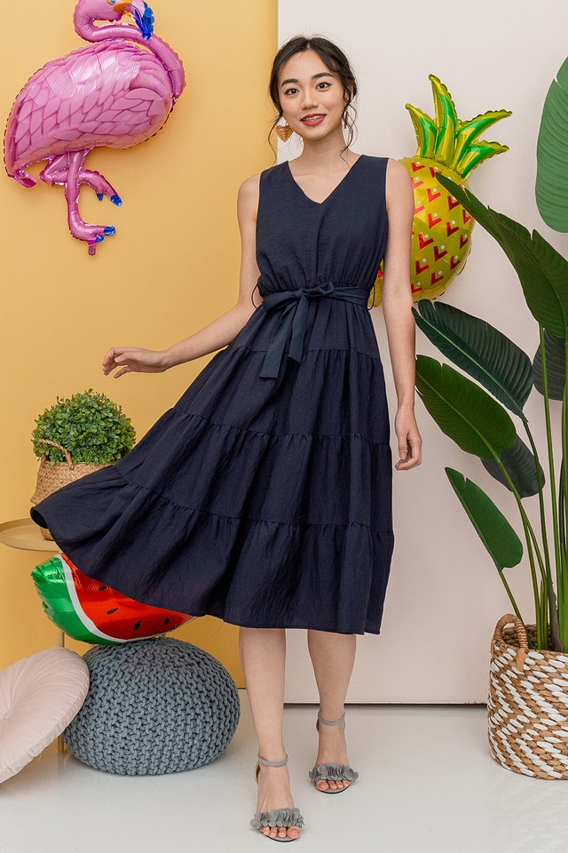 Ashlie Dress Navy
