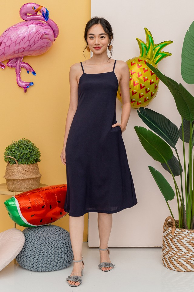 Frazer Dress Navy