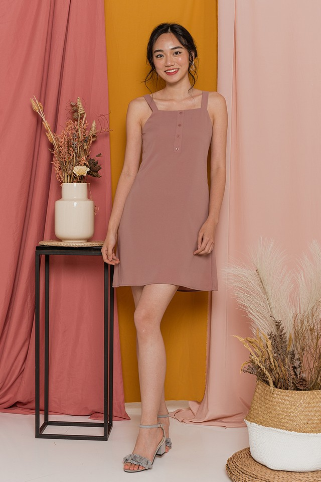Alberta Dress Dusty Pink