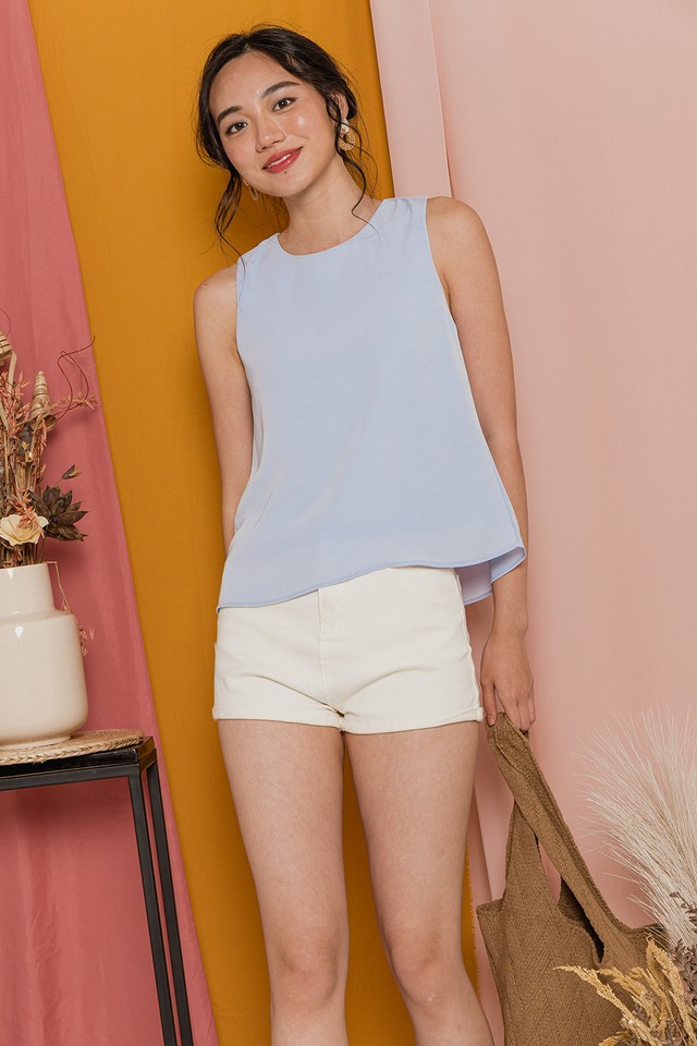 Charlize Top Pastel Blue