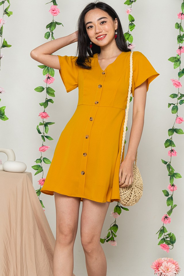 Jaylynn Dress Mustard