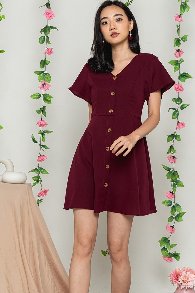 Jaylynn Dress Wine