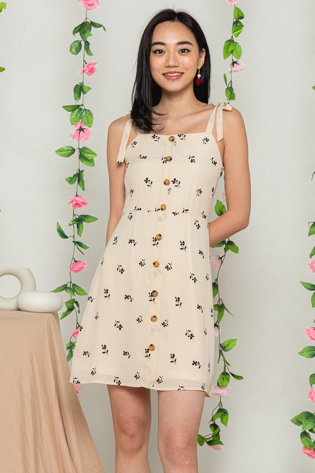 Janiza Dress Cream Floral