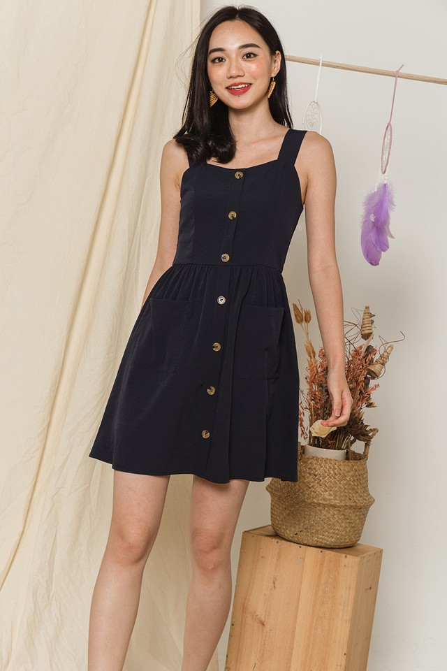 Toya Dress Navy
