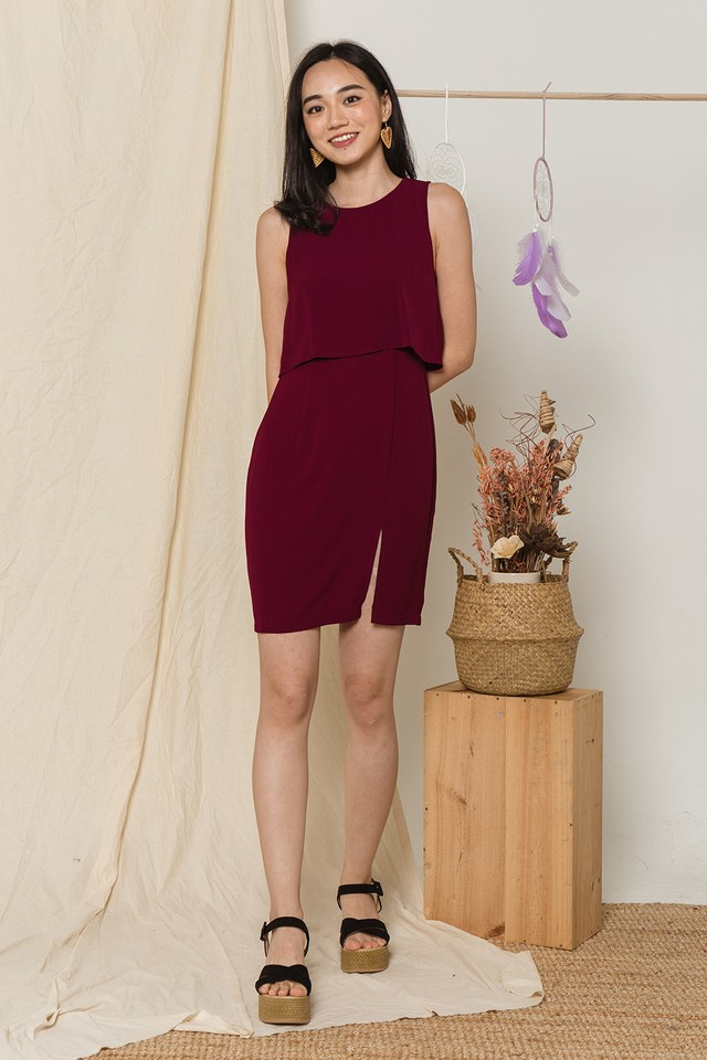 Yesenia Dress Maroon