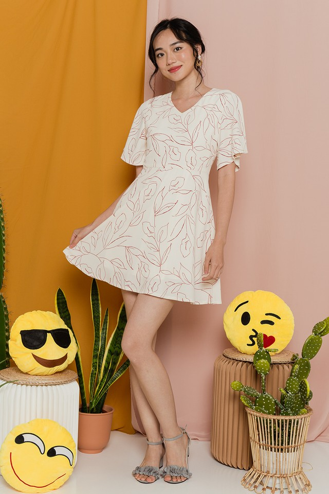 Rigmor Dress Cream Floral