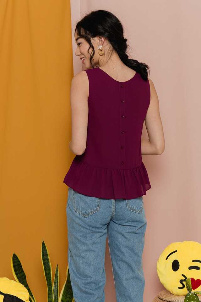 Kelly Top Maroon