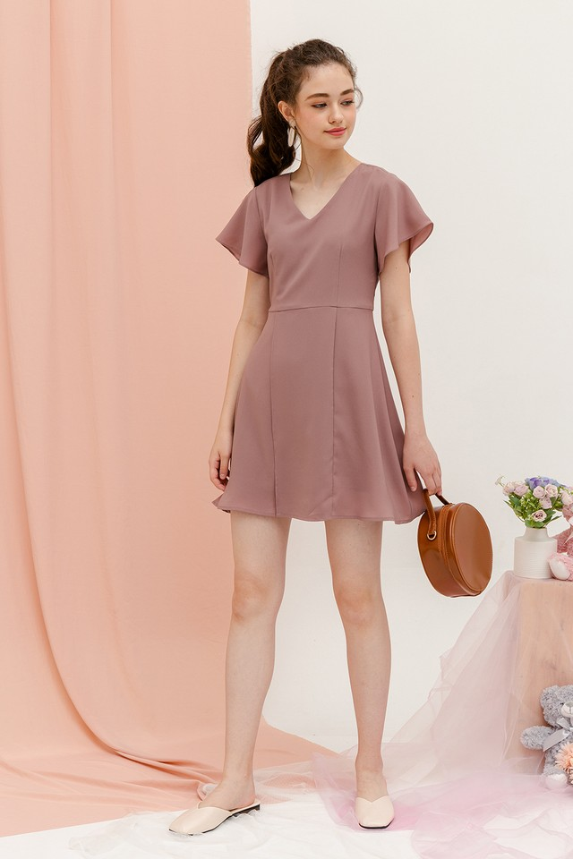 Denisa Dress Dusty Pink