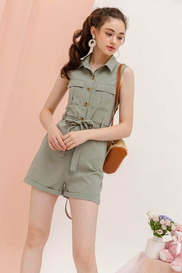 Yarra Playsuit Sage